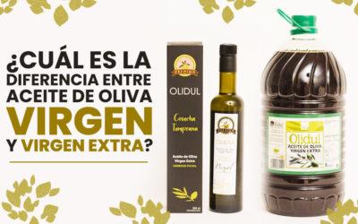 ¿Cuál es la diferencia entre aceite de oliva virgen y virgen extra?