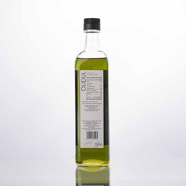 Aceite de Oliva Premium 750 ml reverso
